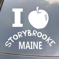 "I ""Heart"" Storybrooke OUAT Car Sticker"