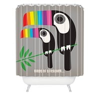 Anderson Design Group Rainbow Toucans Shower Curtain