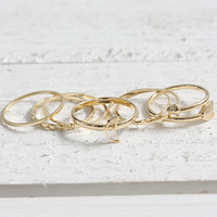 Crescent Moon Ring Set