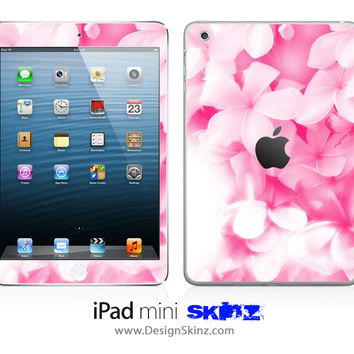 Soft Pink Flowers iPad Skin