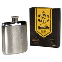 "Gentleman's Hardware ""Down The Hatch"" Hip Flask"