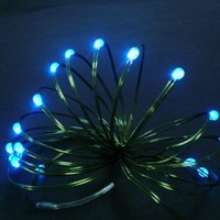 Starlite Creations Battery Operated LED Ultra Slim Wire, 9 ft, 36 LEDs, Blue Bundle Set