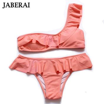 JABERAI Swimwear Women 2017 One Shoulder Bikini Swimsuit Push Up Bandeau Bikini Sexy Biquinis Feminino traje de bano mujer 5