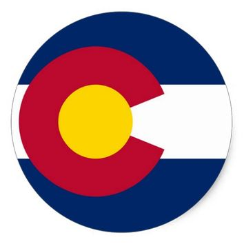 Sticker with Flag of Colorado