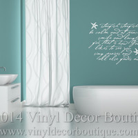 Starfish Starfish Vinyl Wall Quote Decal Wall Words Wall art Vinyl Lettering Vinyl Decal Ocean Beach Wall quotes