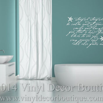 Starfish Starfish Vinyl Wall Quote Decal From Vinyl Decor - Wall decals beach quotes