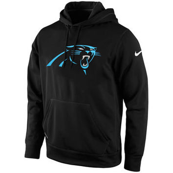 Mens Carolina Panthers Nike Black KO Logo Essential Hoodie