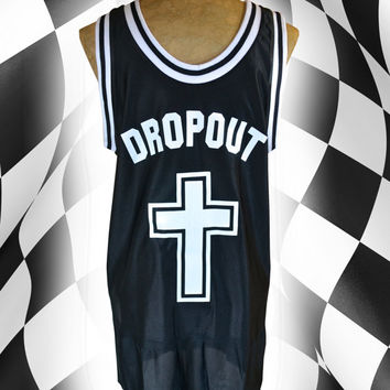 Unisex TEAM DROPOUT Unholy Athletic Cross Jersey // Nu Goth // Grunge Streetwear // fASHLIN
