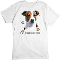 [Short Sleeve Tee] - I Heart My Jack Russell Terrier
