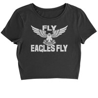 Fly Eagles Fly Cropped T-Shirt