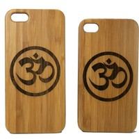 Om Symbol iPhone 5 5S Case Bamboo Cover Natural Wood Eco Friendly Protective Skin Yoga Meditation Zen Hindu Pranava Mantra