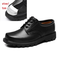 Safety Boots Men Safety Shoes For Work Shoes Men Leather Oxfords Anti-collision Steel Toe Shoes Outdoor Male Protection Footwear