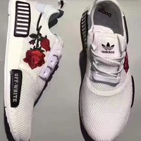 Adidas NMD OFF-WHITE Knit roses running shoes