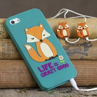 Cute  Phone  Covers:  Fox  Phone  Cover  Ear  Bud  Set  from  Natural  Life