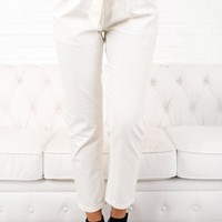 Better For It High Waisted Pants (White)