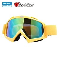 HEROBIKER New Ski Snowboard Snowmobile Motorcycle Goggles Dirt Bike Glasses Motocross Off-Road Eyewear Color Lens T815-7