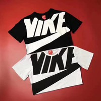 nike fashion large logo print short sleeve t shirt top tee