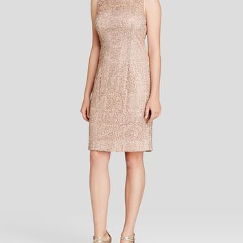 Adrianna Papell 41889120 Sleeveless Illusion Lace Cocktail Dress