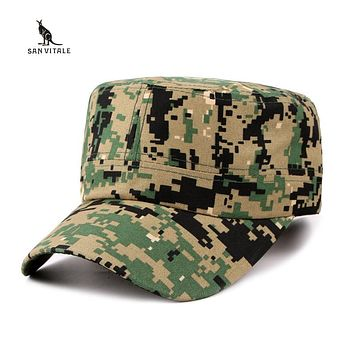 Camouflage Pattern Men's Adjustable Military Style Headgear