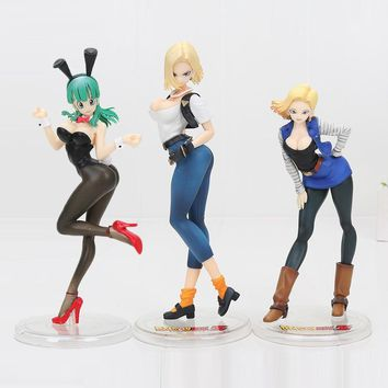 Dragon Ball Z NO. 18 Lazuli Bulma Bunny Girl PVC figurine toys Collection Anime Action Figure Toys 18cm
