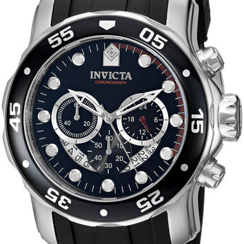 Invicta Men's 6977 Pro Diver Collection Chronograph Black Dial Black Polyurethane Watch