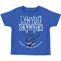 Lynyrd Skynyrd Boys' Bring It On Childrens T-shirt Blue Rockabilia