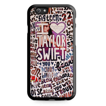 Taylor Swift Song Collage Actrees Iphone 5 Case