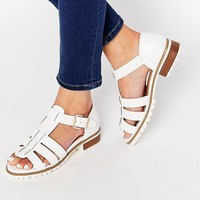 River Island Buckle Side Sandal at asos.com
