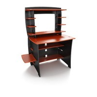 Legare 36-Inch Student Desk with Hutch, Red and Black