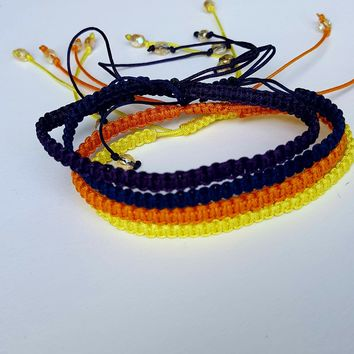 Square Knot Friendship Bracelet- Sunset Collection
