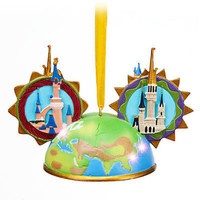 disney parks globe light up ear hat ornament by costa alavezos new with tag