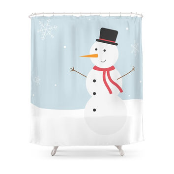 Society6 Snowman Shower Curtains