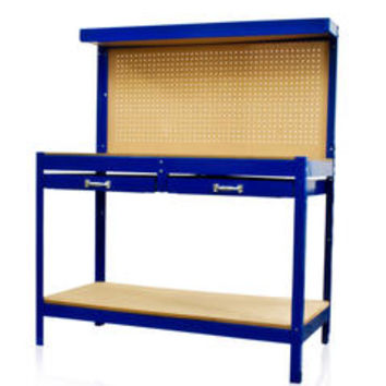 Work Bench Tool Storage With Drawers and Peg Board Solid Steel Construction New - Sears
