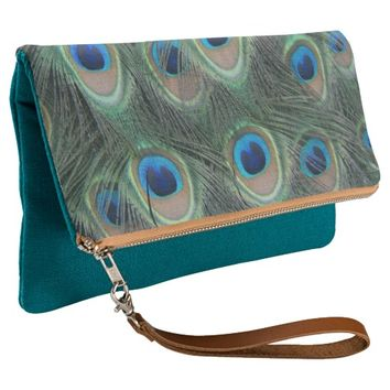 Peacock Feather Pattern Clutch