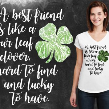 Four Leaf Clover Best Friend Graphic T-shirt