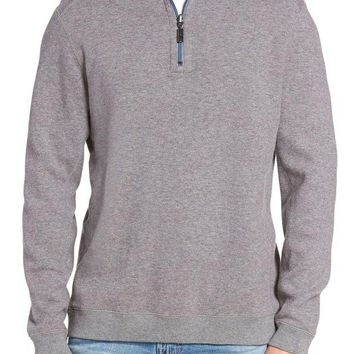 DCCKHB3 Tommy Bahama | Flip Side Reversible Quarter Zip Twill Pullover