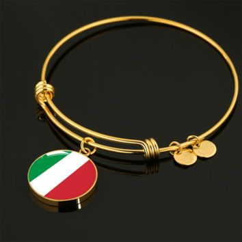 Italian Pride - 18k Gold Finished Bangle Bracelet