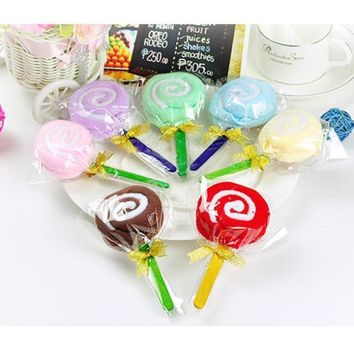New Cute MINI Lollipop Baby Cotton Washcloth Towel Favor Gift Randomly Free Shipping