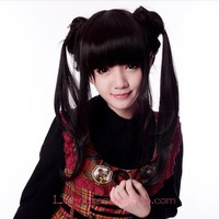 Lolita Long Black Lady Maid Cute Cosplay Wig