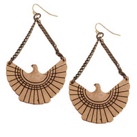 Thunderbird Earring in Antique Gold