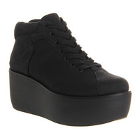 Vagabond ORIXA CLOSED TOE WEDGE BLACK CANVAS Shoes - Womens Ankle Boots Shoes - Office Shoes