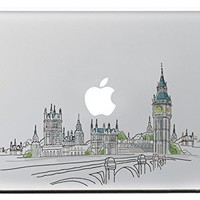 "iCasso Sights of London Vinyl Decal Sticker Skin for Apple Macbook Pro Air Mac 13"" inch / Unibody 13 Inch Laptop"