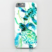 Sea Turtle iPhone & iPod Case by SurenArt