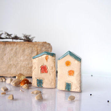 Little clay houses abstract architectural from vitezartglassdesig - The tiny house village a miniature settlement ...