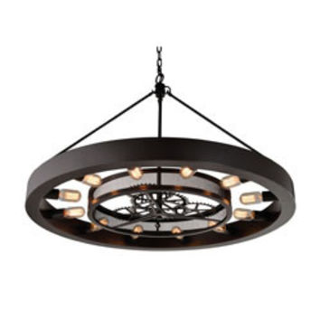 Elk Group Chronology 12 Light Chandelier In Oil Rubbed Bronze 32237/12