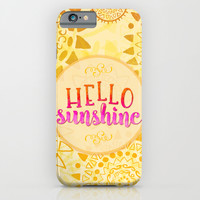 Hello Sunshine iPhone & iPod Case by Noonday Design