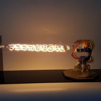 Dragon Ball Z Vegeta Led Light Lamp Cannon Dragon Ball Super Super Saiyan Led Table Desk Lamp Luces Navidad