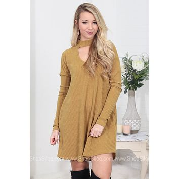 Turtleneck Ribbed Pocket Dress | Colors
