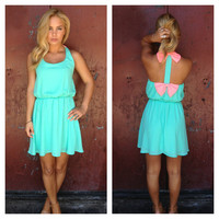 Pink Double Bow Back Dress