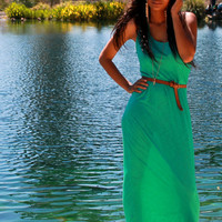 Mint Braid Back Maxi Dress